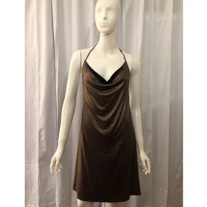 Lucca Couture Metallic Gold Backless Club Dress
